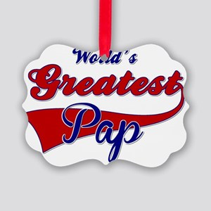Worlds Greatest Pap Picture Ornament