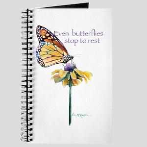 Monarch butterfly resting Journal