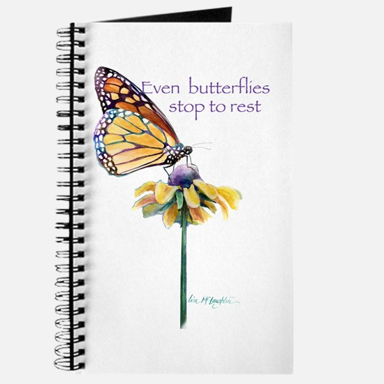 Monarch butterfly resting Journal