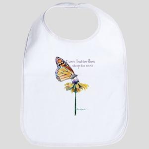 Monarch butterfly resting Bib