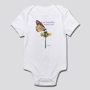 Monarch butterfly resting Infant Bodysuit