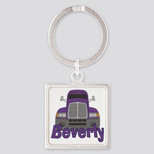 beverly-g-trucker Square Keychain