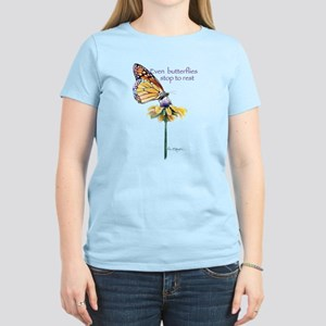 Monarch butterfly resting Women's Light T-Shirt