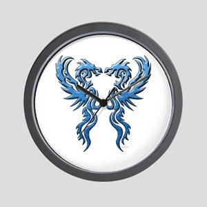 Twin Dragons: Blue Wall Clock
