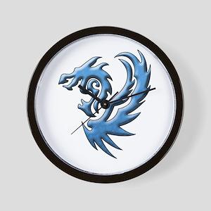 Twin Dragons: Blue Wall Clock