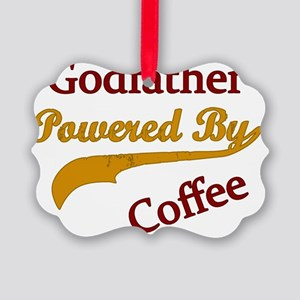 Godfather Powered By Coffee Picture Ornament
