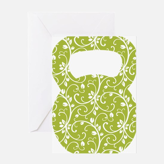 Organic Green Vine Kettlebell Greeting Card