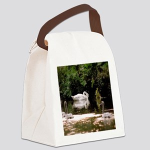 Swan Family Canvas Lunch Bag