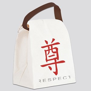 respectColored Canvas Lunch Bag
