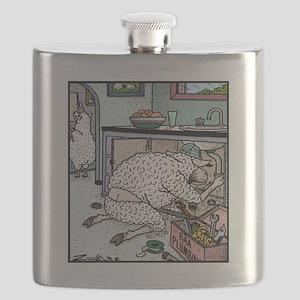 Sheep Plumber butt crack Flask