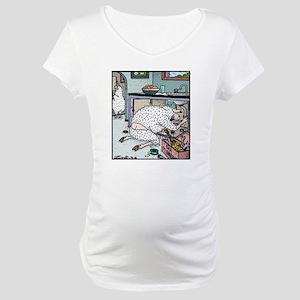 Sheep Plumber butt crack Maternity T-Shirt