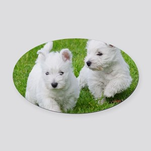 West Highland White Terrier AA060D Oval Car Magnet