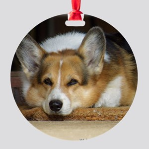 Welsh Corgi Pembroke 9R022-030_2 Round Ornament