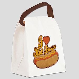 ILoveHotdogs Canvas Lunch Bag