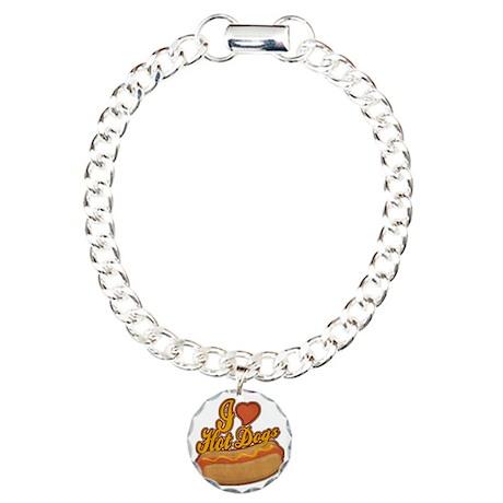 ILoveHotdogs Charm Bracelet, One Charm