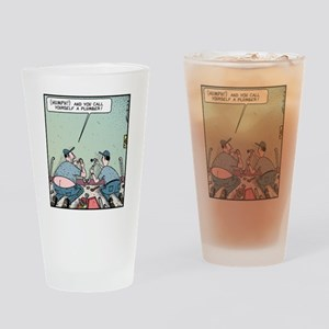 Plumbers butt crack Drinking Glass