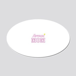 softball mom blk c 20x12 Oval Wall Decal
