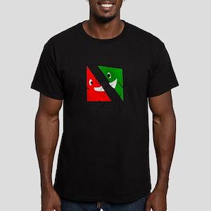 Triangular discussion Men's Fitted T-Shirt (dark)