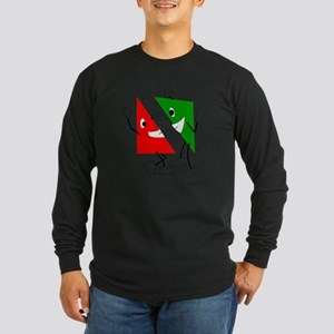 Triangular discussion Long Sleeve Dark T-Shirt