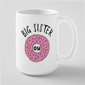 Phi Mu Big Donut 15 oz Ceramic Large Mug