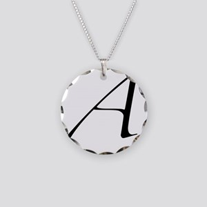 Atheist A symbol Necklace Circle Charm