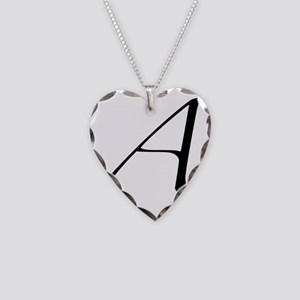 Atheist A symbol Necklace Heart Charm