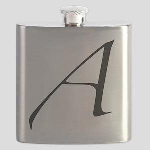 Atheist A symbol Flask