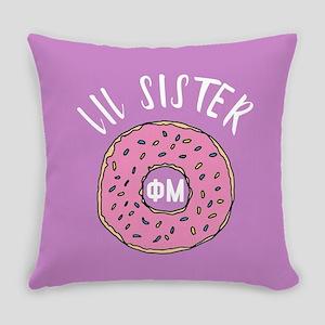 Phi Mu Little Donut Everyday Pillow