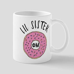 Phi Mu Little Donut 11 oz Ceramic Mug
