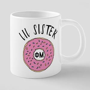Phi Mu Little Donut 20 oz Ceramic Mega Mug