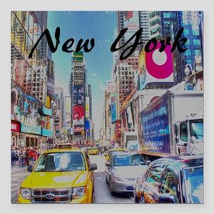 """NY_10x10_TimesSquare Square Car Magnet 3"""" x 3"""""""