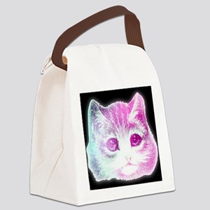 CosmicKitty Pink Canvas Lunch Bag