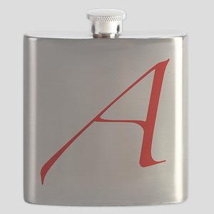 Dawkins Scarlet Letter Atheist Symbol Flask