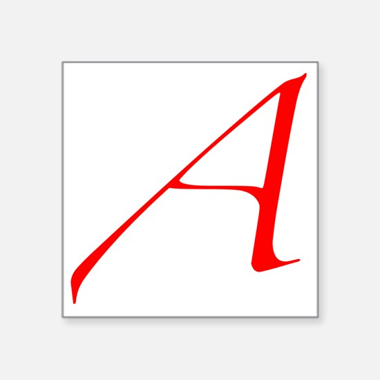 "Dawkins Scarlet Letter Athe Square Sticker 3"" x 3"""