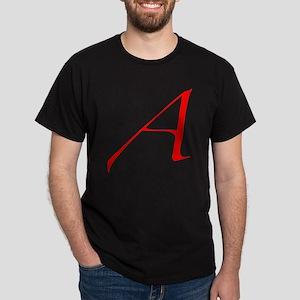 Dawkins Scarlet Letter Atheist Symbol Dark T-Shirt