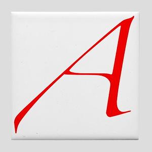 Dawkins Scarlet Letter Atheist Symbol Tile Coaster