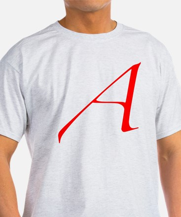 Dawkins Scarlet Letter Atheist Symbo T-Shirt
