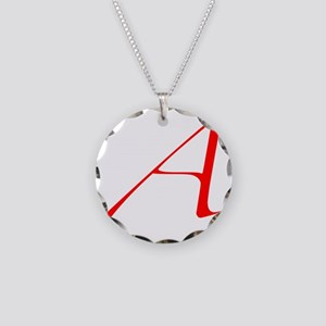 Dawkins Scarlet Letter Athei Necklace Circle Charm
