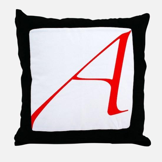 Dawkins Scarlet Letter Atheist Symbol Throw Pillow