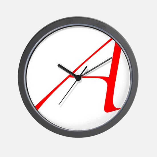 Dawkins Scarlet Letter Atheist Symbol Wall Clock