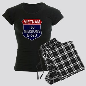 100 MISSIONS - B-52D Women's Dark Pajamas