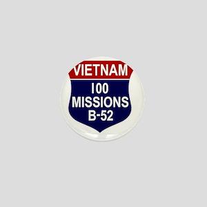 Vietnam - 100 Missions B-52 Mini Button