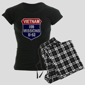 Vietnam - 100 Missions B-52 Women's Dark Pajamas