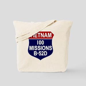 100 MISSIONS - B-52D Tote Bag