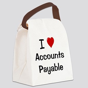 I Love Accounts Payable Canvas Lunch Bag