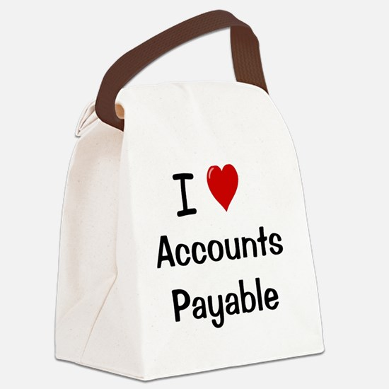 I Love Accounts Payable Canvas Lunch Bag