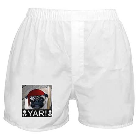 pug pirate Boxer Shorts