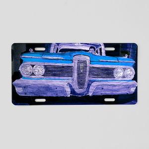 classic car laptop skin Aluminum License Plate