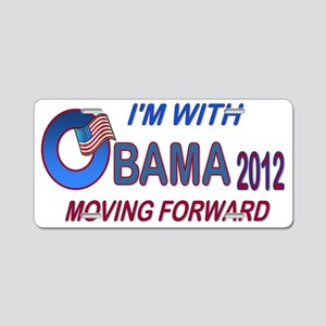 Im with Obama T-shirt2 Aluminum License Plate
