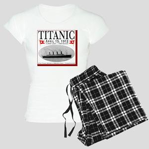 TGGhostWineLabelRedBordWhit Women's Light Pajamas